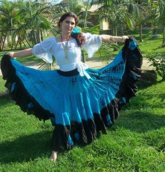 Цыганские юбки с какой ткани