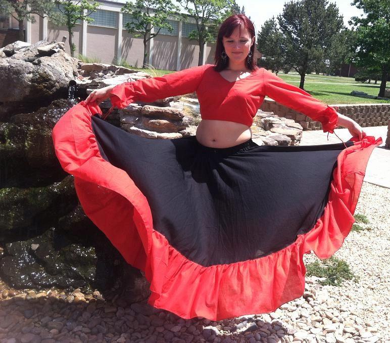 Из чего сшить цыганскую юбку 551