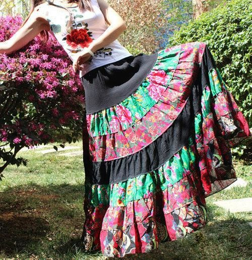 Модели цыганская юбка