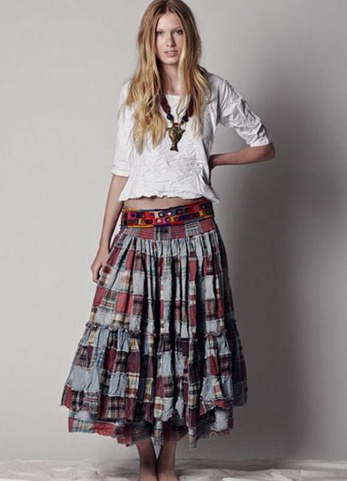 Модели оборок на юбку