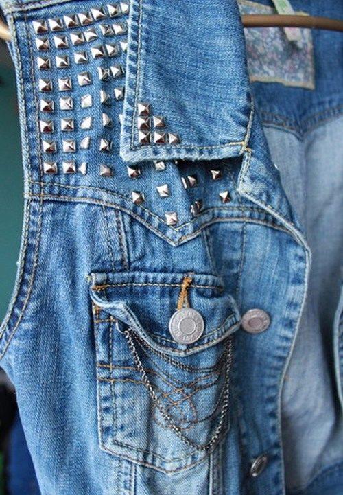 Как сделать из джинсовой куртки жилетку