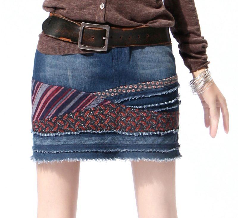 7b4863789ce1f Юбка из старых джинсов своими руками: выкройки, как сшить