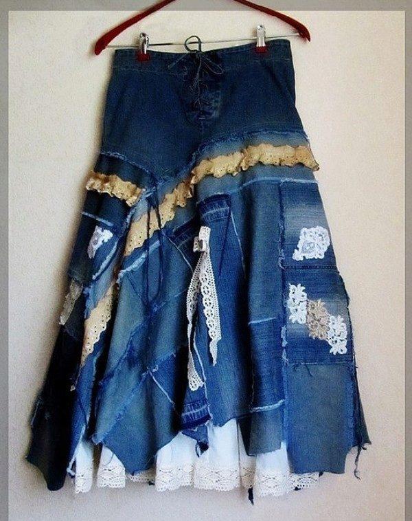 Сшить юбку из старых джинсов своими руками фото 363