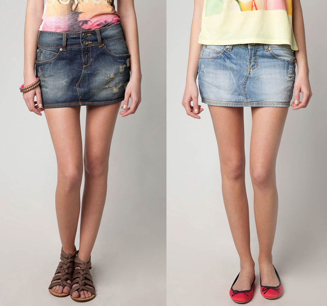 Как сделать из обычной юбки джинсовой