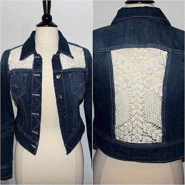 Как обновить джинсовую куртку своими руками фото