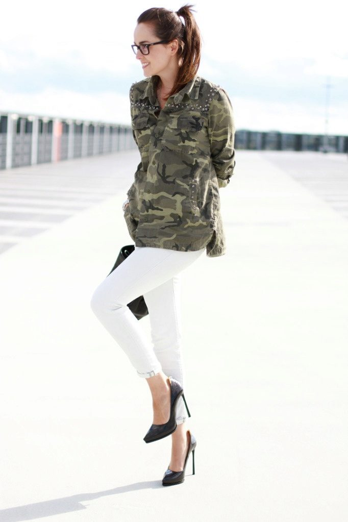 Women military trend clothes  accessories