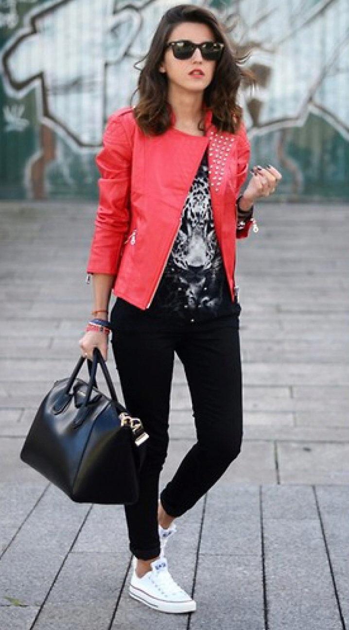 Кеды куртка девушки фото
