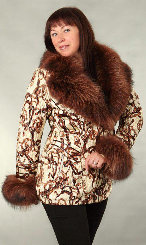 Модная зимняя куртка женская большого размера 79
