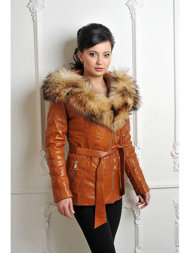 Куртка женская кожаная одесса
