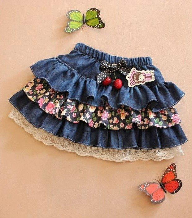 Сшить юбку ламбаду для девочки 1164