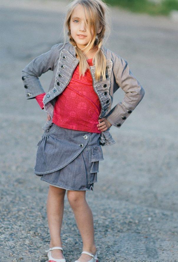 Как сшить джинсовую юбку для девочки из старых джинсов фото 372