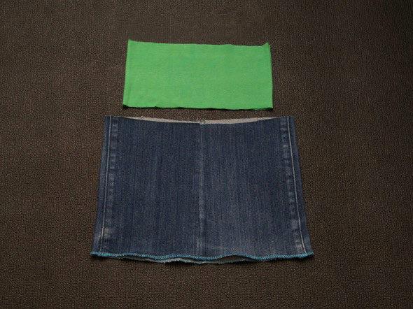 Сшить джинсовую юбку для девочки