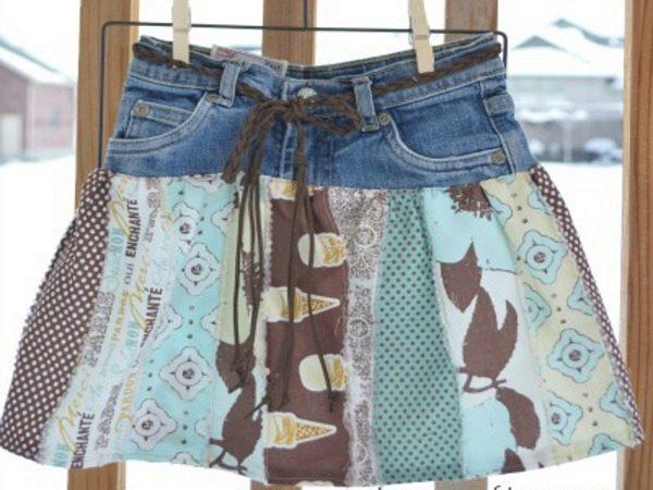 Как сшить юбку из джинс своими руками