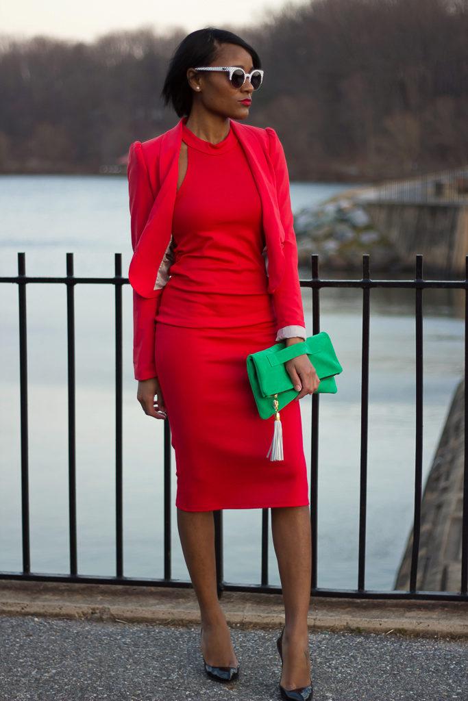 красно зеленое платье фото