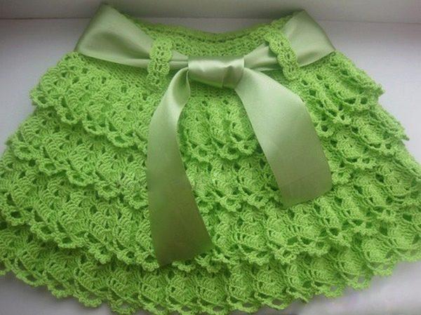 вязаные юбки для девочек крючком схемы и инструкции как связать