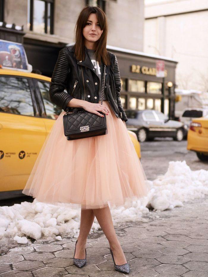 Фатиновая бежевая юбка