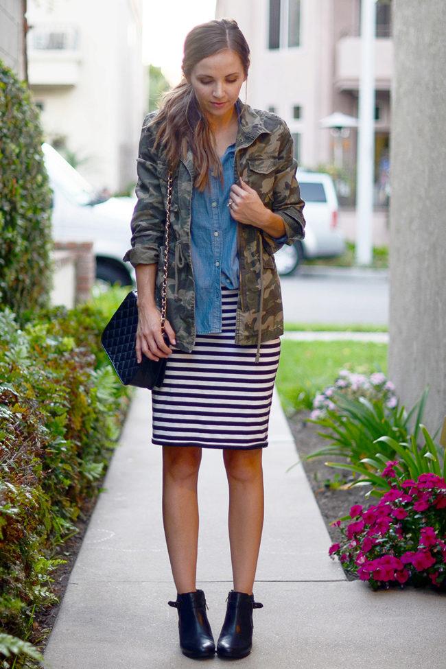 Платье и юбки с обувью на плоской подошве