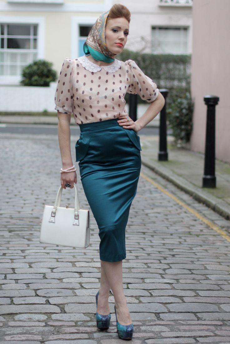 Юбка в стиле 60-х с чем носить