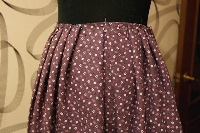 Как сшить кокетку для юбки полусолнце