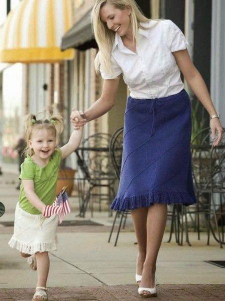 Завышенные юбки для беременных