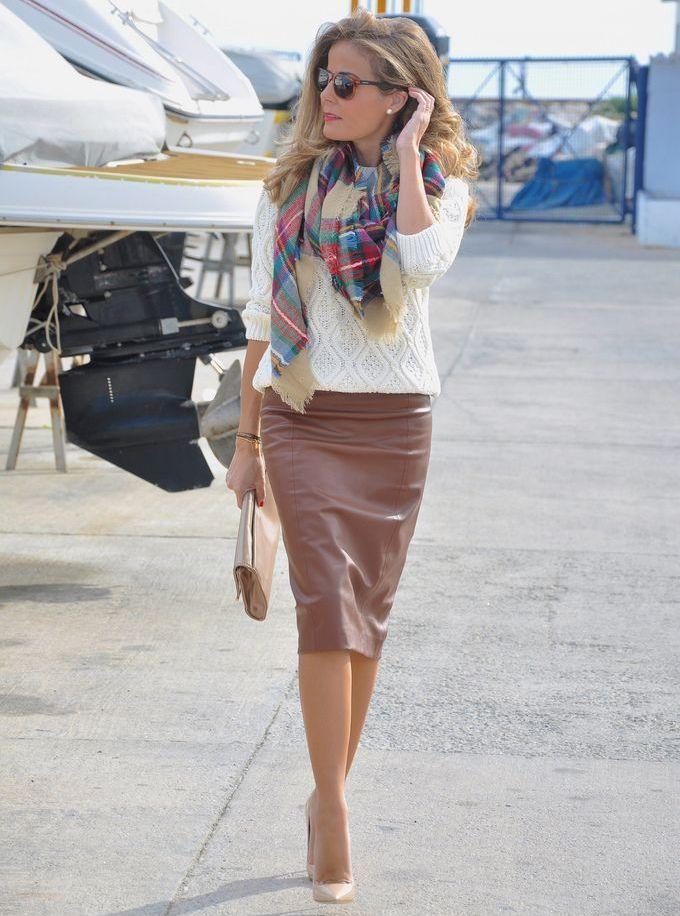 фото юбки из экокожи
