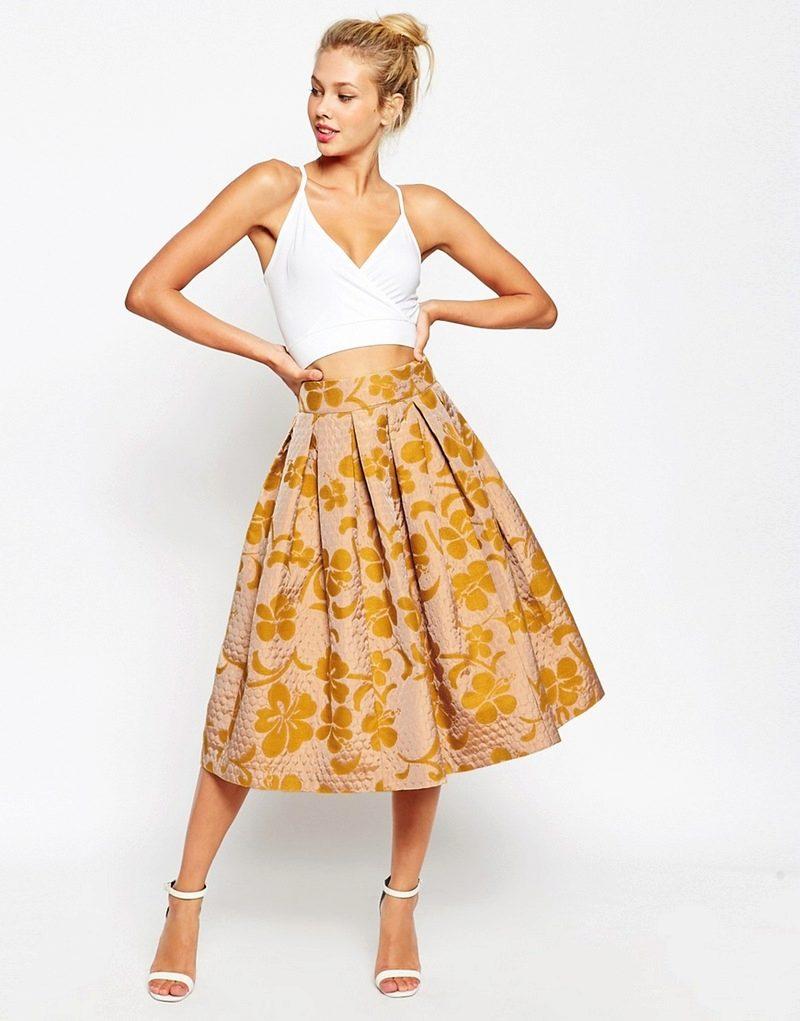 Ткань жаккард для юбки