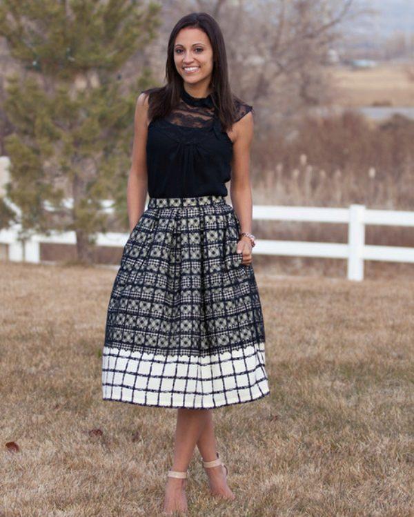 Как носить юбку со встречной складкой