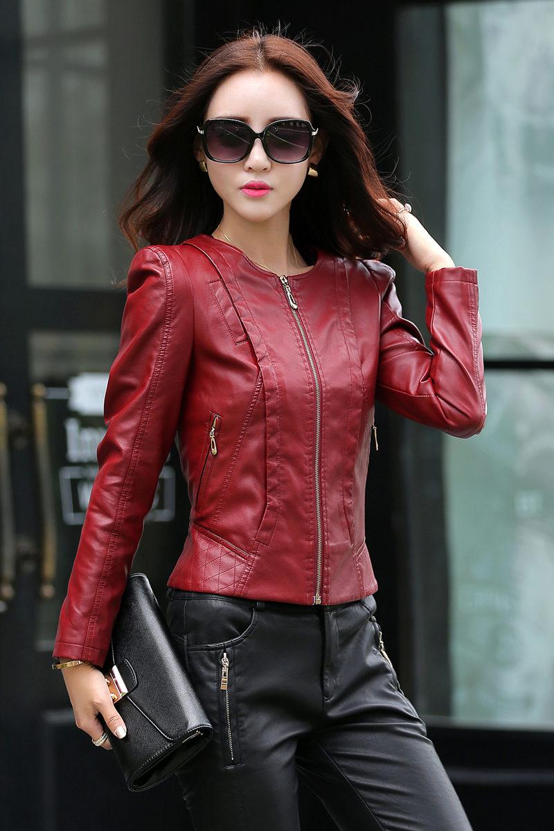 Кожаные Куртки Для Женщин