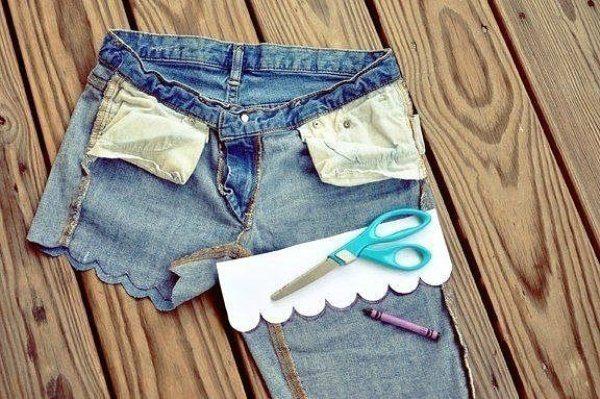 Как сделать своими руками шорты из старых джинсов 81