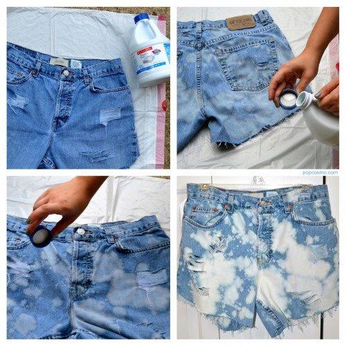 Картинки по запросу джинсы с разводами своими руками