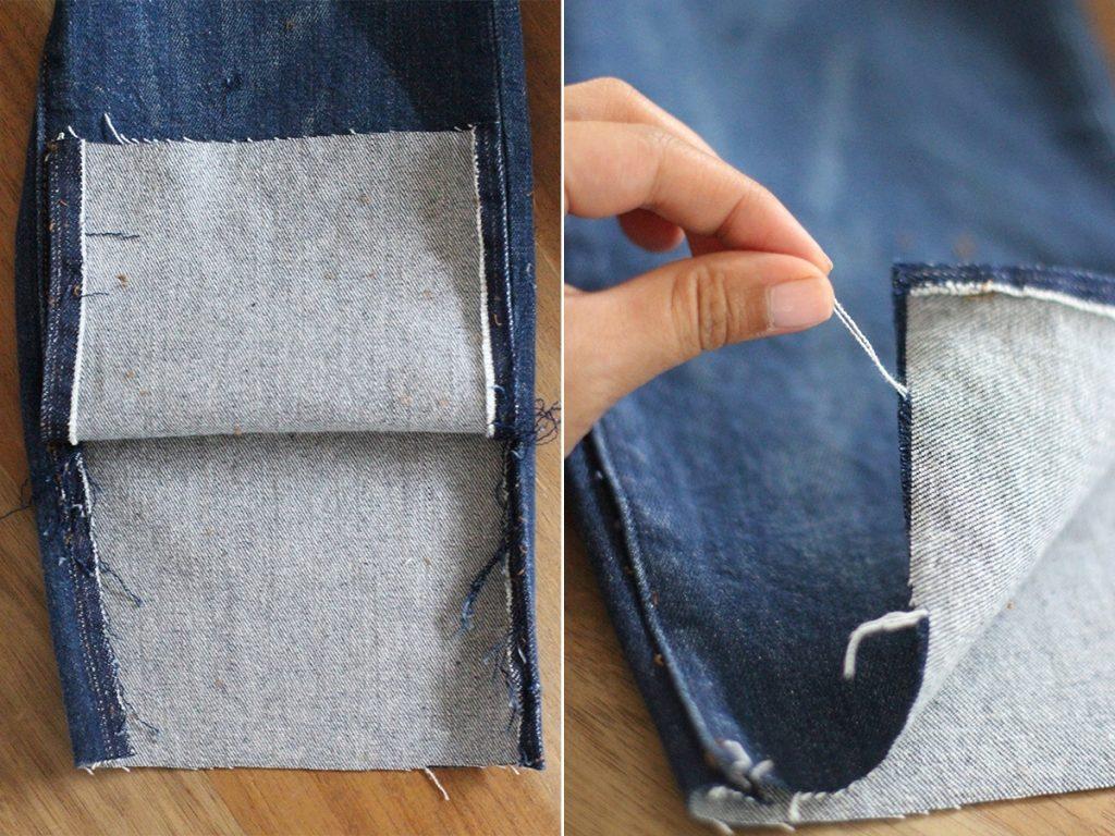 Как сделать бохраму на джинсах - Теплотехник