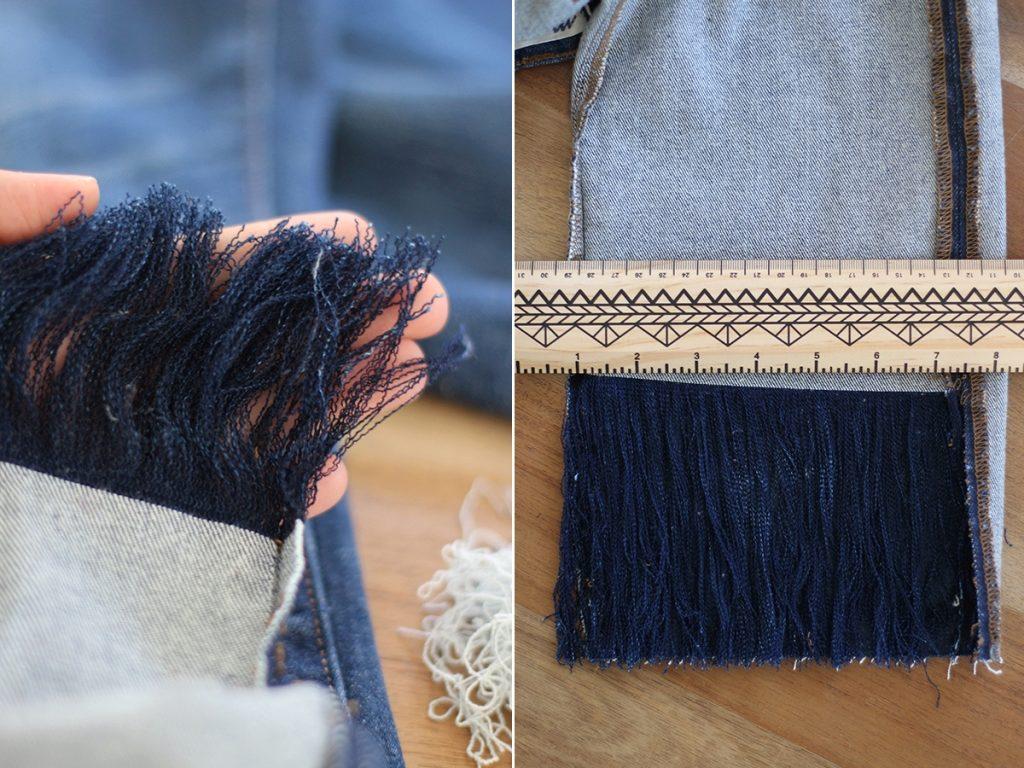 Бахрома из джинсовой ткани своими руками 413