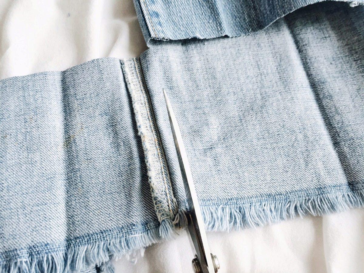 Как быстро сделать бахрому на джинсах