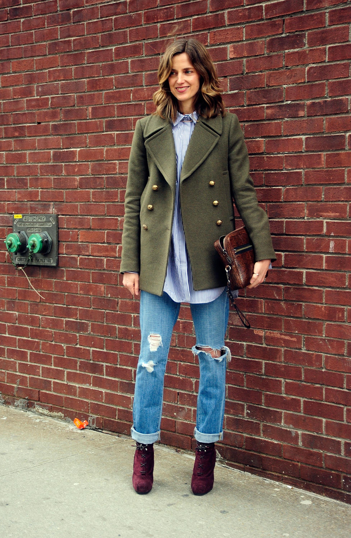 С чем носит джинсы с дырками