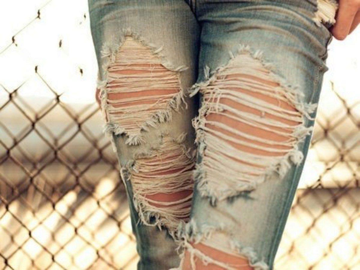 Как продырявить джинсы в домашних условиях фото