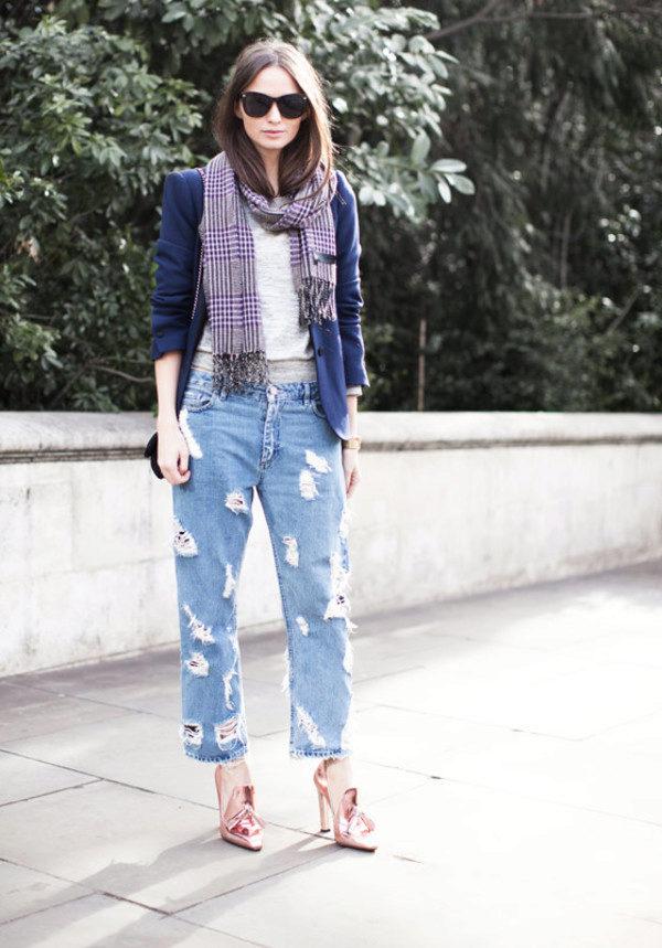 Как сделать модные рваные джинсы