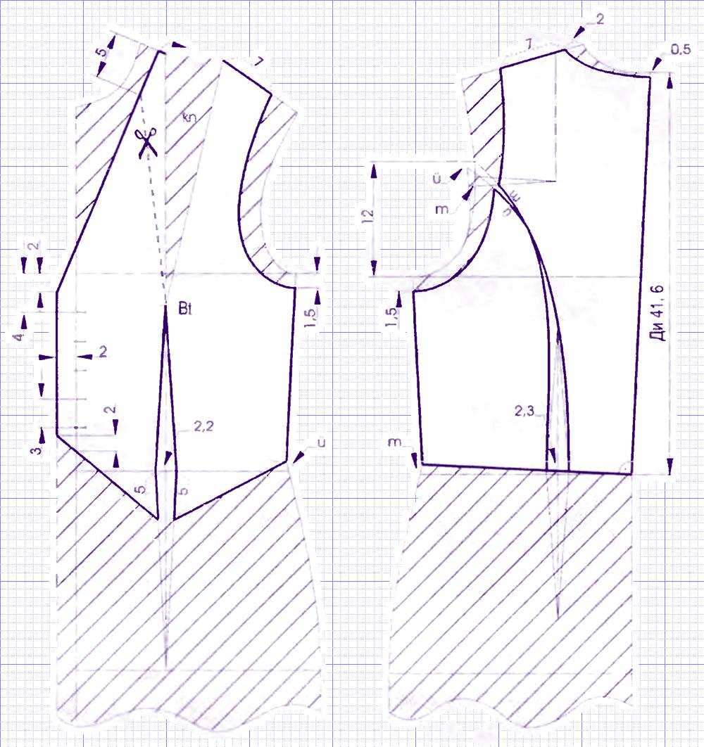Выкройка безрукавки джинсовой