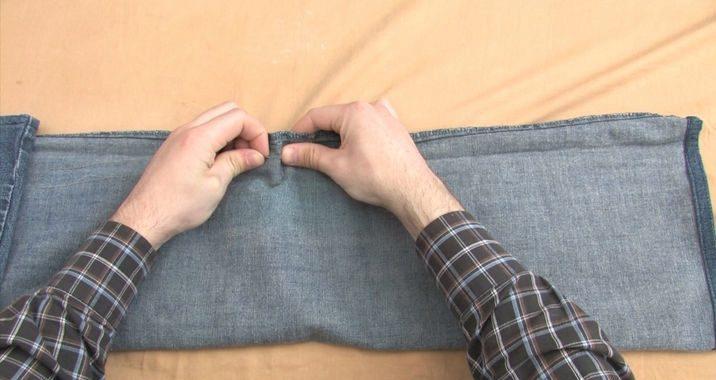 Ушить джинсовую юбку по бокам