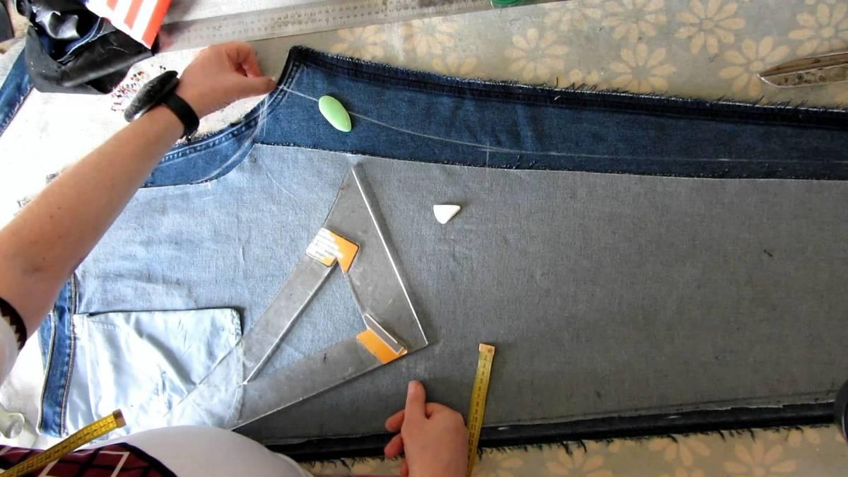 Как джинсовую юбку уменьшить на размер