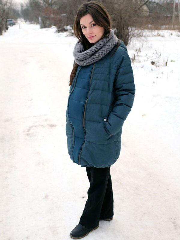 032493019a6b41b Пуховик для беременных (41 фото): зимние пуховики, фасоны, трапеция