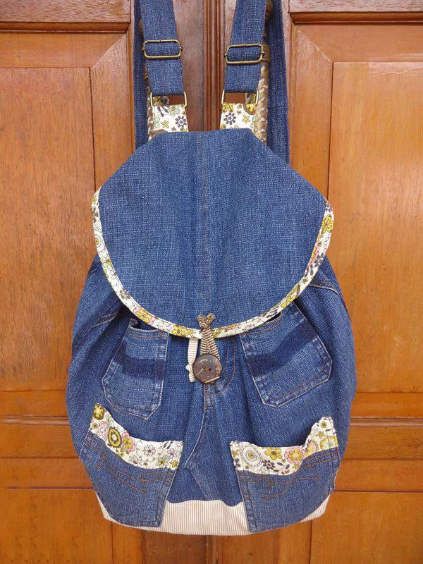 Простой рюкзак из джинс своими руками