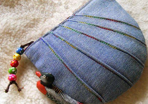 Косметичка из джинсов своими руками