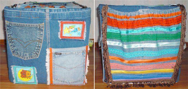 Коробка для хранения своими руками из джинсы