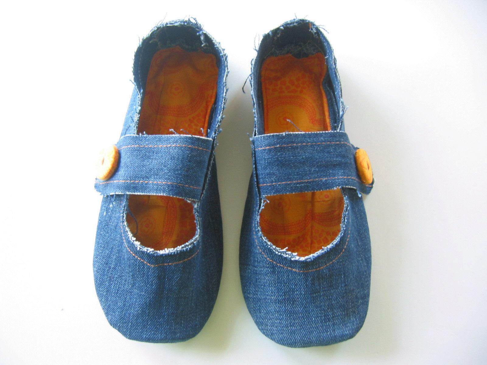 Тапочки из джинсов мастер-класс