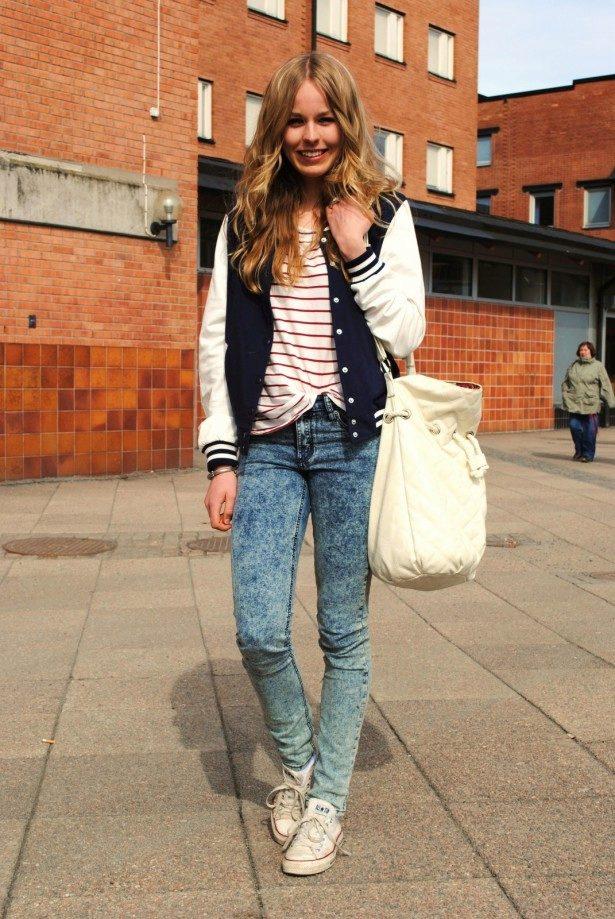 Высокие серые джинсы с чем носить
