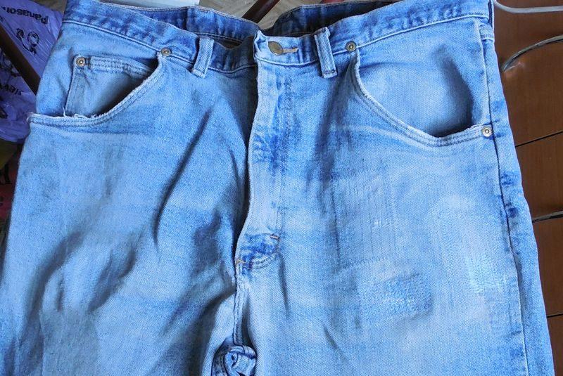 Мастер класс заплатка на джинсах между ног