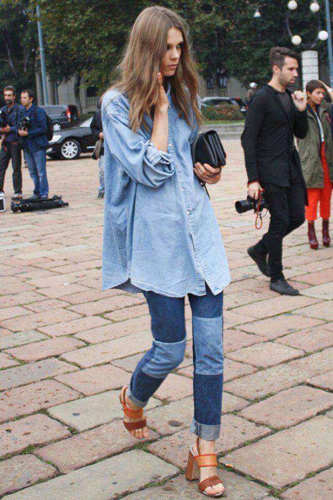 744931f11a3 Женские джинсы-американки (36 фото)  с чем носить