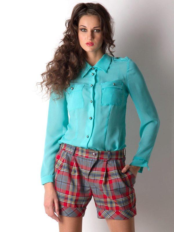 f147ceb9d22 Бирюзовые блузки (38 фото)  с чем носить блузы бирюзового цвета