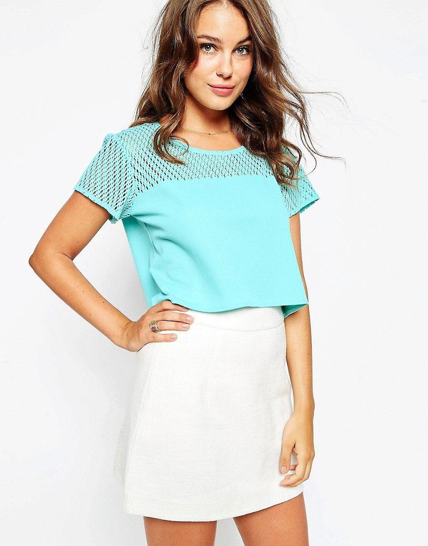 Женские рубашки голубого цвета