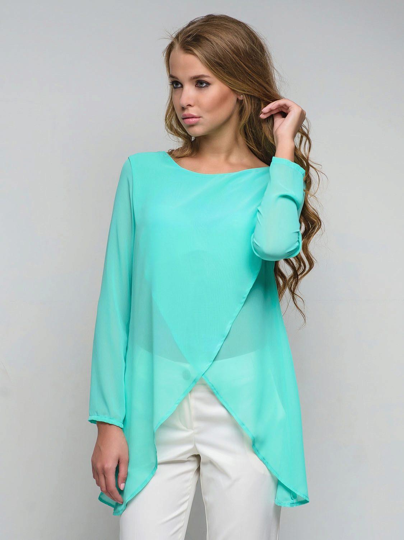 Модные зеленые блузки изоражения